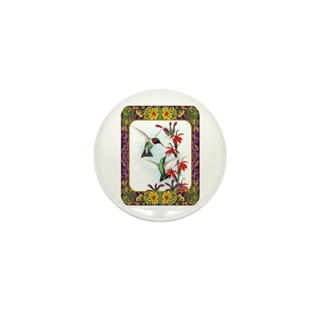 Hummingbirds and Flowers #5 Mini Button (10 pack)