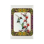 Hummingbirds and Flowers #5 Rectangle Magnet (10 p