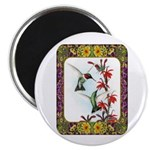 "Hummingbirds and Flowers #5 2.25"" Magnet (10"