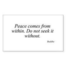 Buddha quote 33 Rectangle Decal