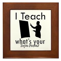 Cool Teacher designs Framed Tile