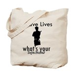 Cool Policeman designs Tote Bag