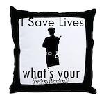 Cool Policeman designs Throw Pillow