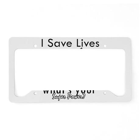Cool Paramedic designs License Plate Holder