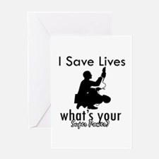 Cool Paramedic designs Greeting Card