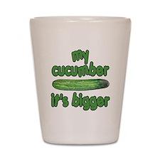 My Cucumber It's Bigger Animal House Shot Glass