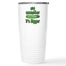 My Cucumber It's Bigger Animal House Travel Mug