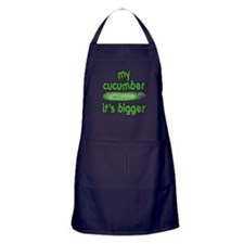 My Cucumber It's Bigger Animal House Apron (dark)
