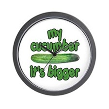 My Cucumber It's Bigger Animal House Wall Clock