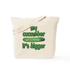 My Cucumber It's Bigger Animal House Tote Bag