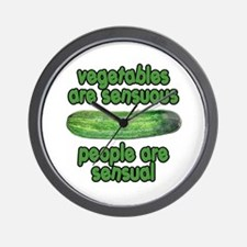 Vegetables are Sensuous Animal House Wall Clock