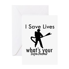 Cool Firefighter designs Greeting Card
