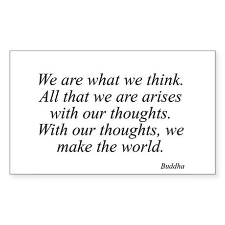 Buddha quote 53 Rectangle Sticker