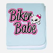 Biker Babe baby blanket