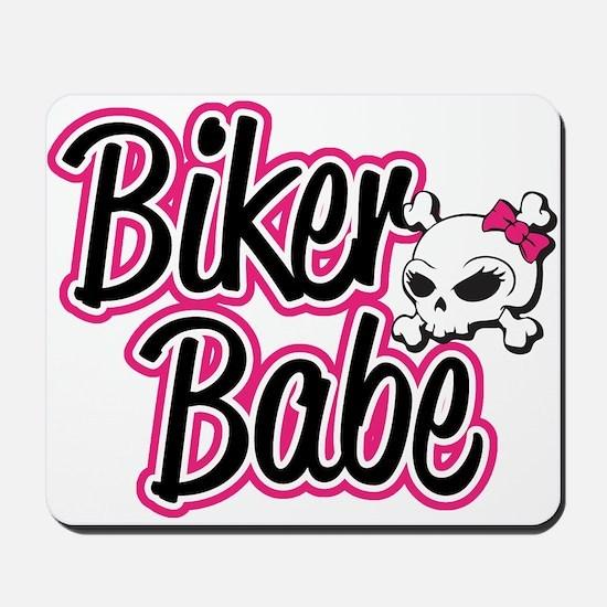 Biker Babe Mousepad