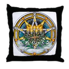 Imbolc Pentacle Throw Pillow