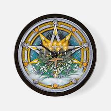 Imbolc Pentacle Wall Clock
