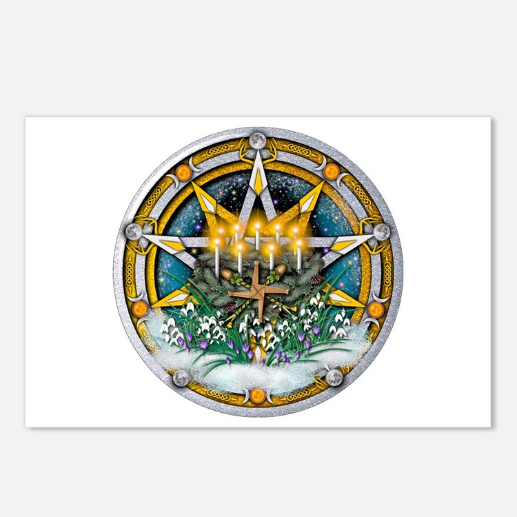 Imbolc Pentacle Postcards (Package of 8)