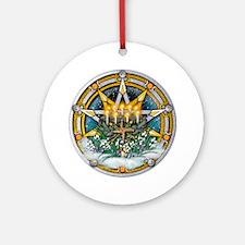 Imbolc Pentacle Ornament (Round)