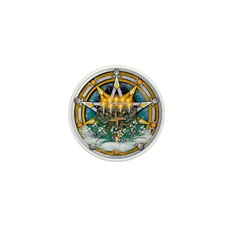 Imbolc Pentacle Mini Button (10 pack)