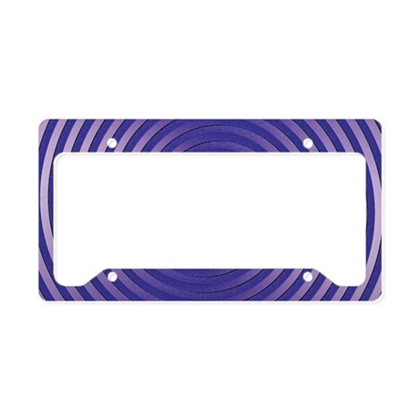 Purple Spiral License Plate Holder