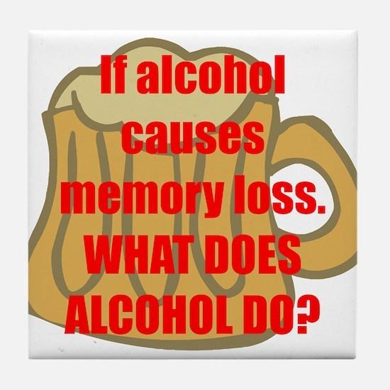 Memory loss Tile Coaster