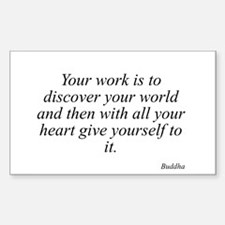 Buddha quote 62 Rectangle Decal