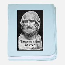 Euripides Stone Quote baby blanket