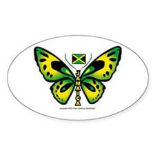 Jamaica Butterfly Oval Decal