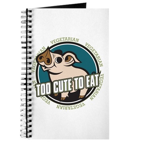 Too Cute to Eat Pig Journal