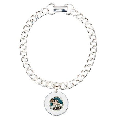 Too Cute to Eat Pig Charm Bracelet, One Charm