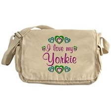 Love my Yorkie Messenger Bag