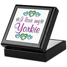 Love my Yorkie Keepsake Box