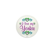 Love my Yorkie Mini Button (100 pack)