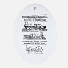 Richmond Locomotive Works Oval Ornament