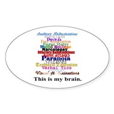 This Is My Brain Oval Decal