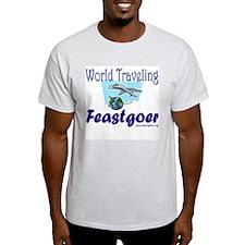 World Traveling Feastgoer Ash Grey T-Shirt