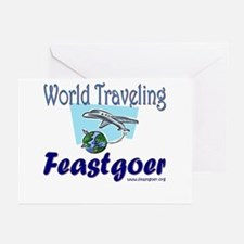 World Traveling Feastgoer Greeting Cards (Package