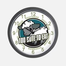 Too Cute to Eat Sheep Wall Clock