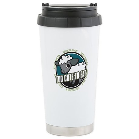 Too Cute to Eat Sheep Stainless Steel Travel Mug