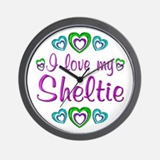 Love My Sheltie Wall Clock