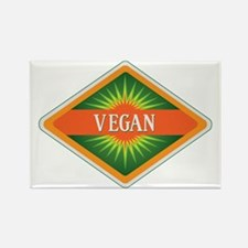 Vegan Colors Logo Rectangle Magnet