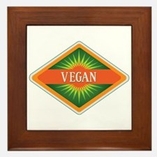 Vegan Colors Logo Framed Tile