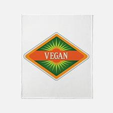 Vegan Colors Logo Throw Blanket