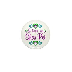 Love My Shar Pei Mini Button