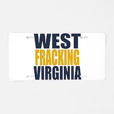 West Fracking Virginia Aluminum License Plate