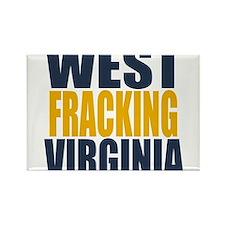 West Fracking Virginia Rectangle Magnet