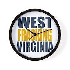 West Fracking Virginia Wall Clock