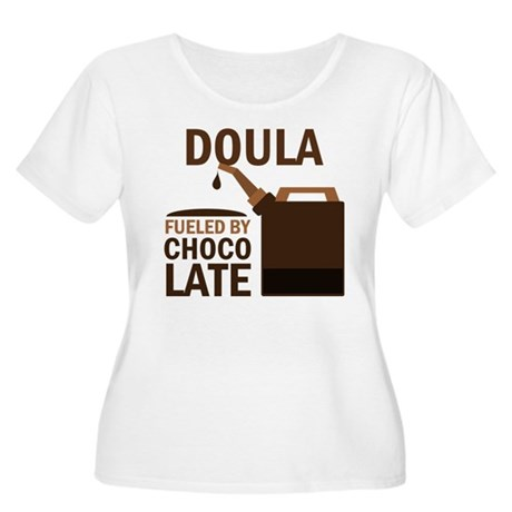 Doula (Funny) Gift Women's Plus Size Scoop Neck T-