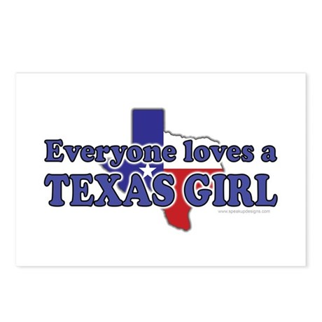 Everyone loves a Texas Girl Postcards (Package of